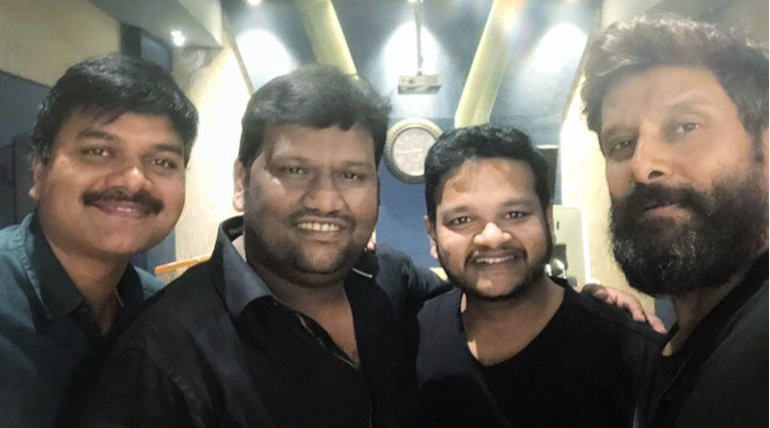 Vikram Croons a Song for Kadaram Kondan , Image Courtesy - Twitter