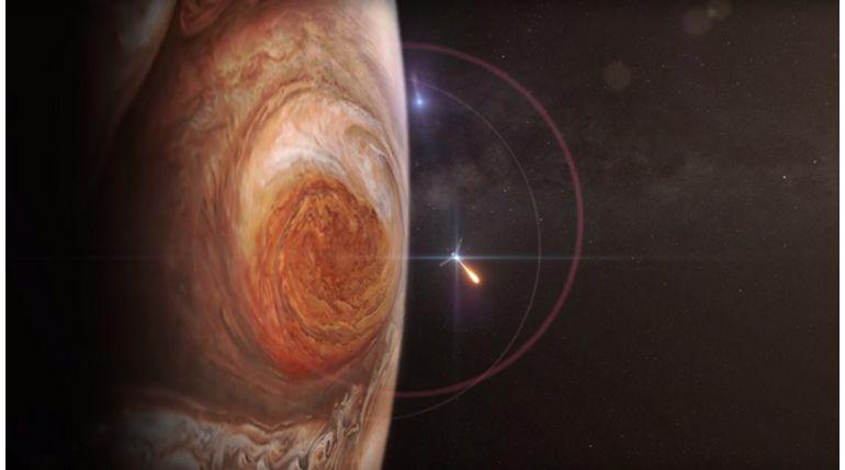 Spectacular Jupiter Cosmic Show. Representation image