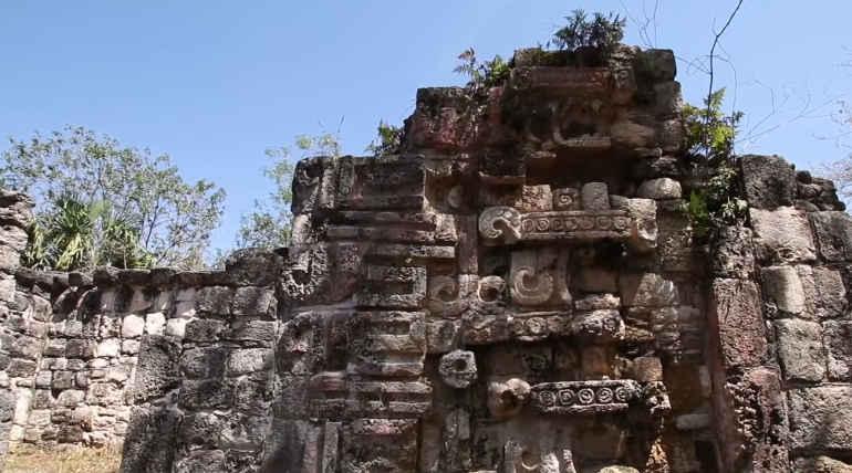 Ancient Mayan Palace remains in Mexico. Image Courtesy: INAH