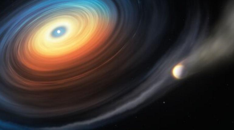 A giant Planet Around a Dwarf Star. Image Credit: ESO