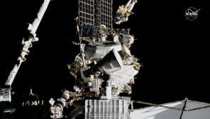 Spacewalking Astronauts: Know the facts of fixing cosmic ray detector. Image Nasa TV