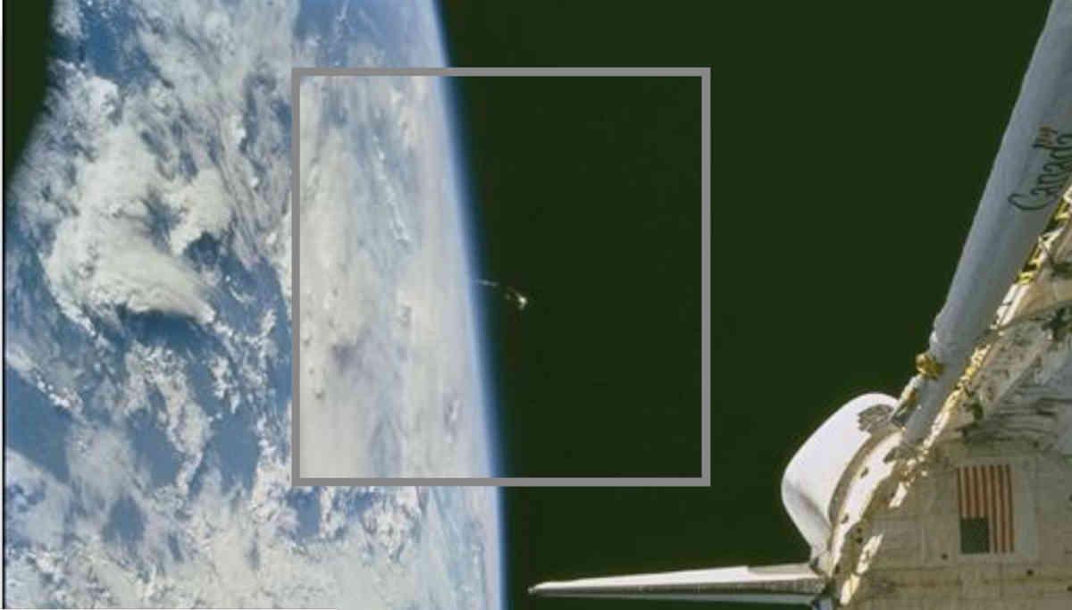 UFO in the Photo Belongs to NASA / Image Courtesy- JSC/NASA
