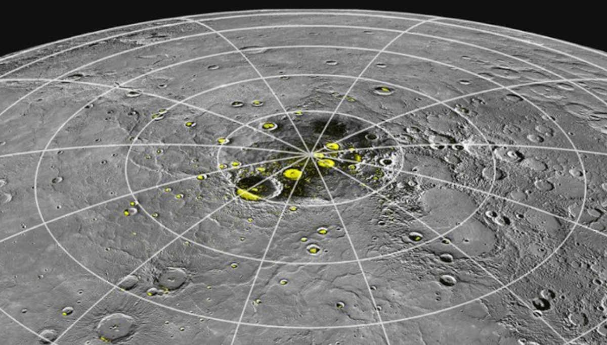 Ice on the Poles of Planet Mercury