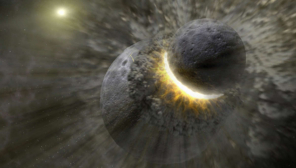Theia Planet Fragments might stuck inside moon