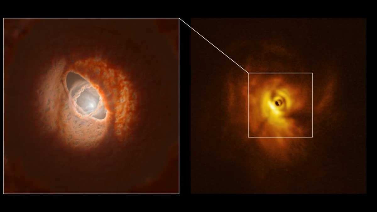 Astronomers detected Protoplanetary Disk around Triple-Star System