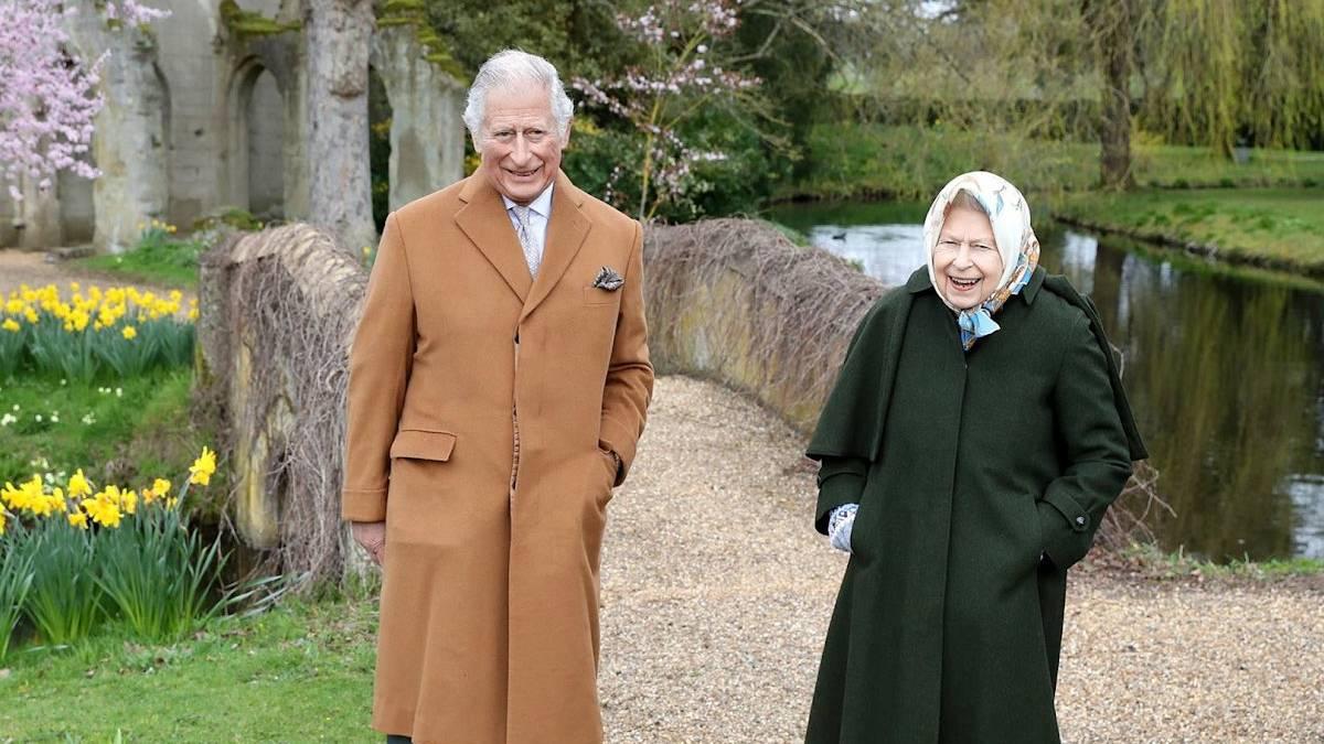 Duke of Edinburgh Prince Philip with The Queen Elizabeth II